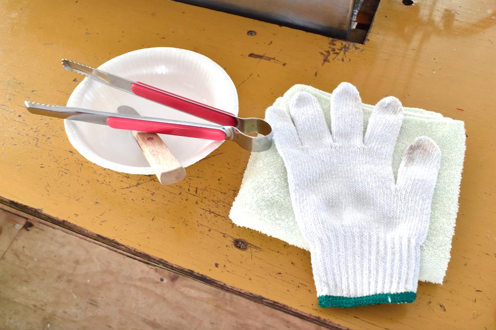 Austernhütten Werkzeug