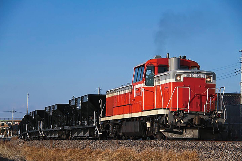 Rote Lok der Suigun-Linie