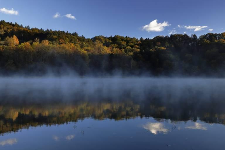 Nebel auf dem Nukabira-See