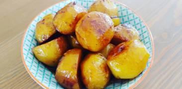 Kartoffeln in Sojasauce