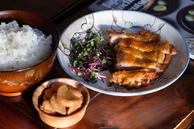 Hähnchen Teriyaki und Joghurt-Miso-Gemüse