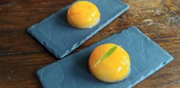 Angerichtetes Mandarinen-Gelée