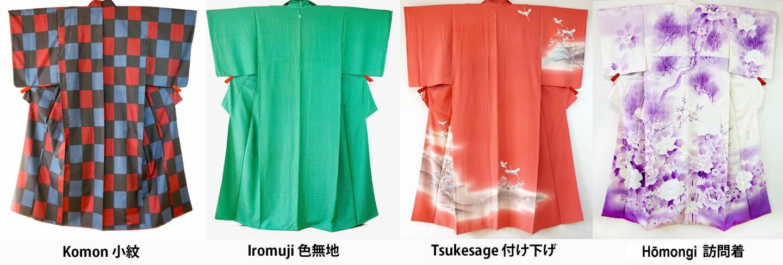4 kimono arten