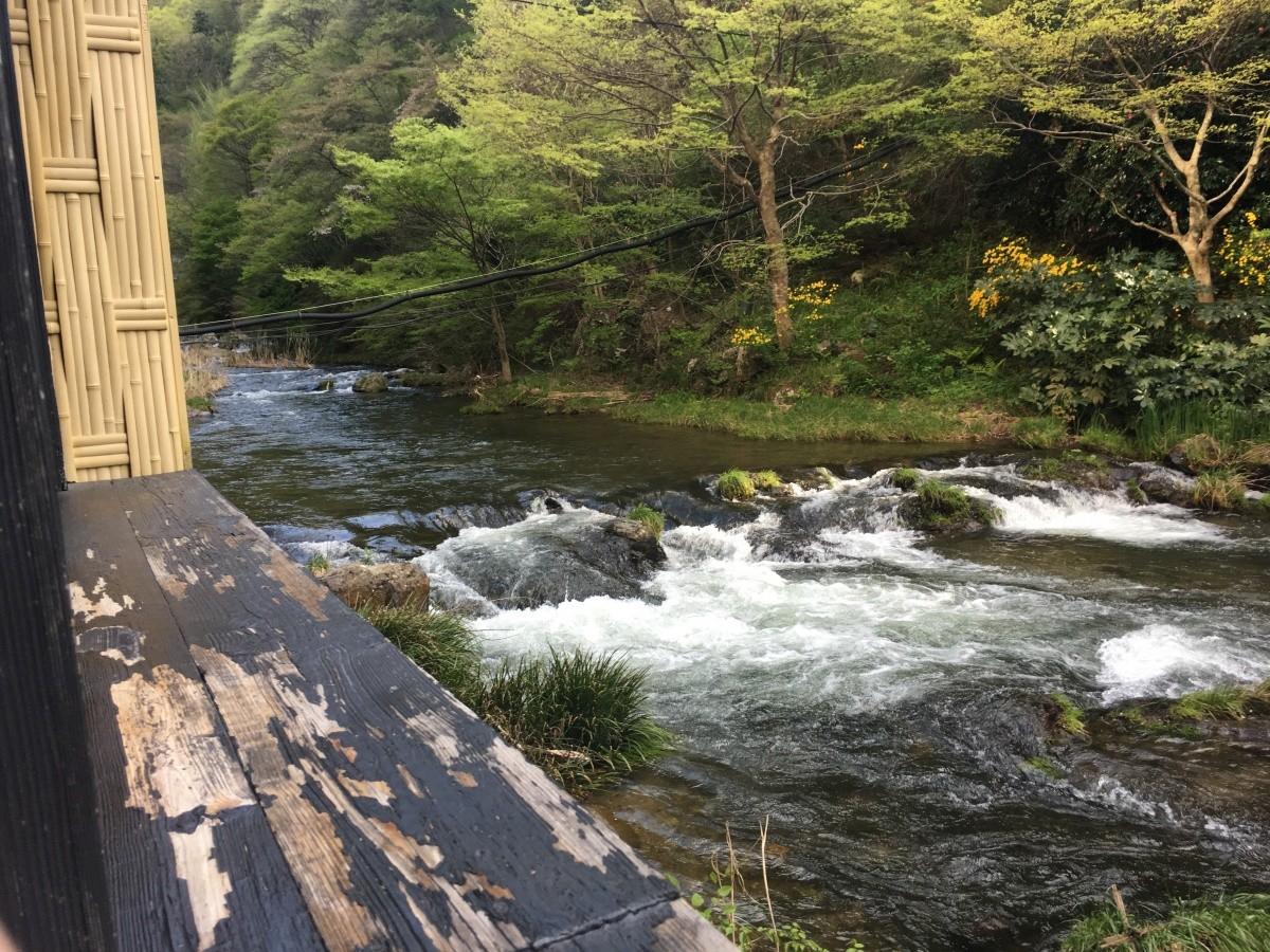 Natürliches Thermalwasser in Tohoku.
