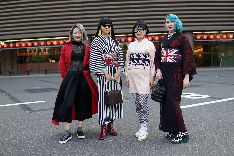 Moderne Formen des Kimono.