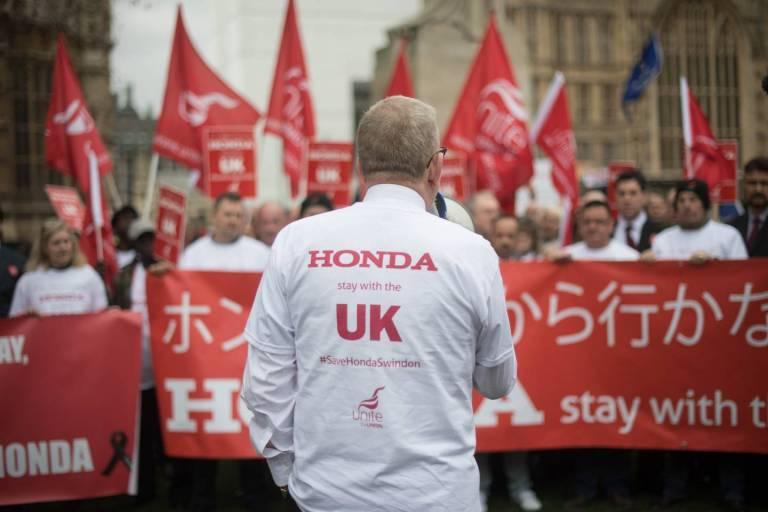 protest zu honda werksschließung
