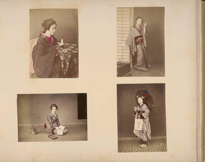 Edozeitliche machi musume (Stadtmädchen) im Kimono.