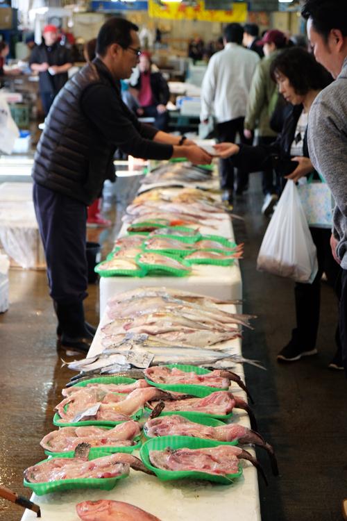 Händler am Nagahama Fischmarkt
