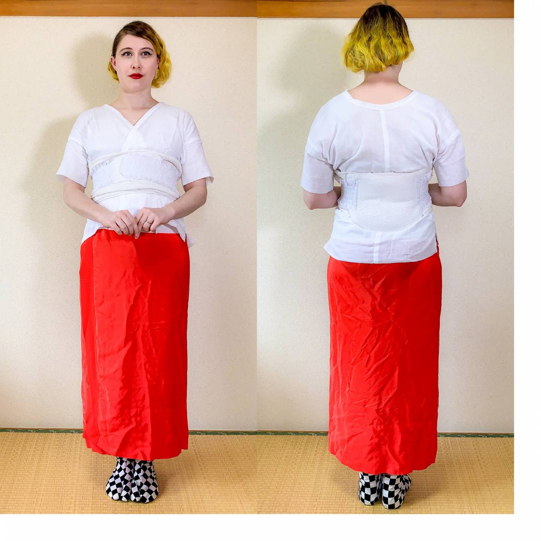 Collage: einen Kimono richtig anziehen