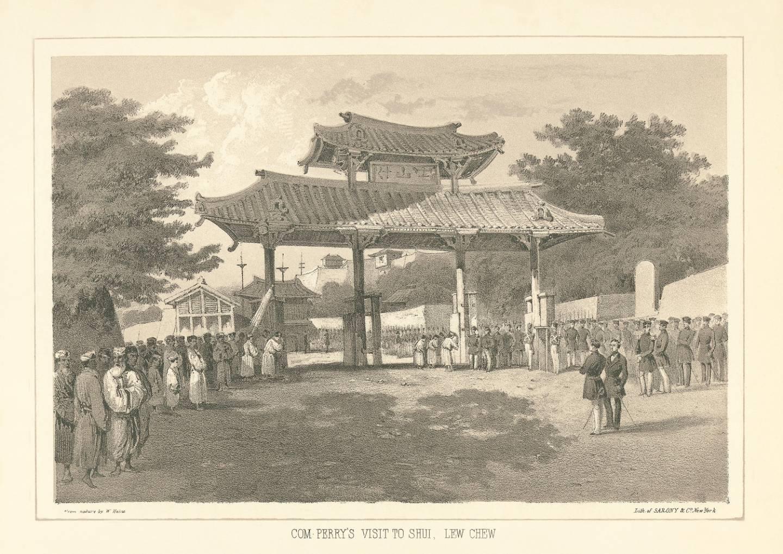 Noch vor der Öffnung Japans und der Annexion Ryūkyūs nahmen die USA in Person von Commodore Perry diplomatische Beziehungen mit dem Königreich auf.