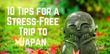 Jizo-Statue auf Moosboden