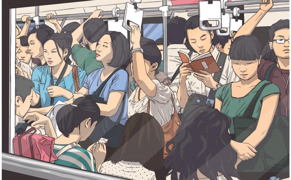 illustration von vollem Zug
