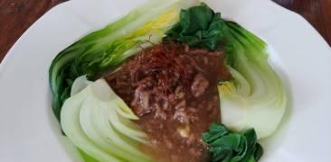 Pak Choi mit Hackfleisch