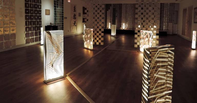 Schatten. Licht. Struktur. Papierinstallationen von Shibazaki Kōji