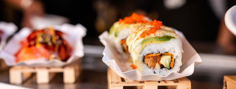 Sushi Festival Köln: Sushi-Kreationen in Nahaufnahme