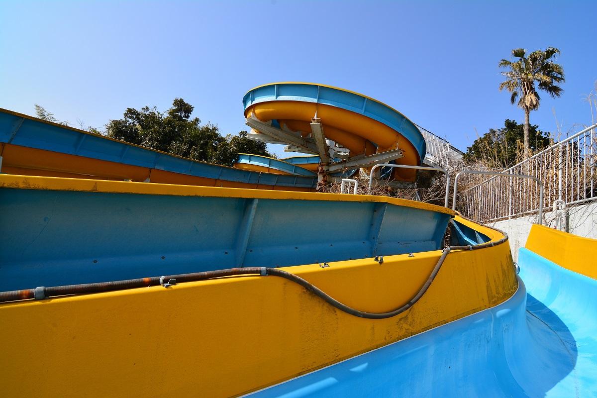Rutsche im Izu Water Park.