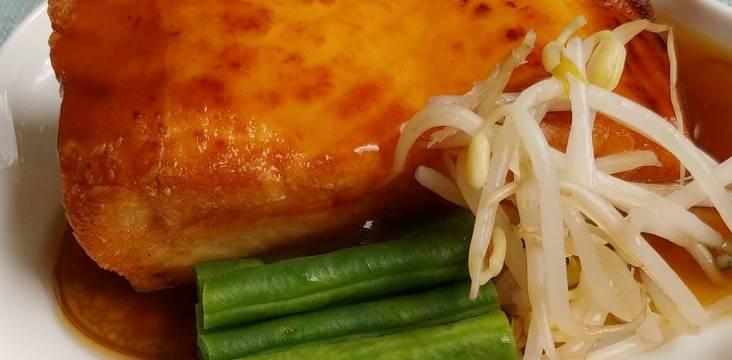 Lachs mit grünen Bohnen