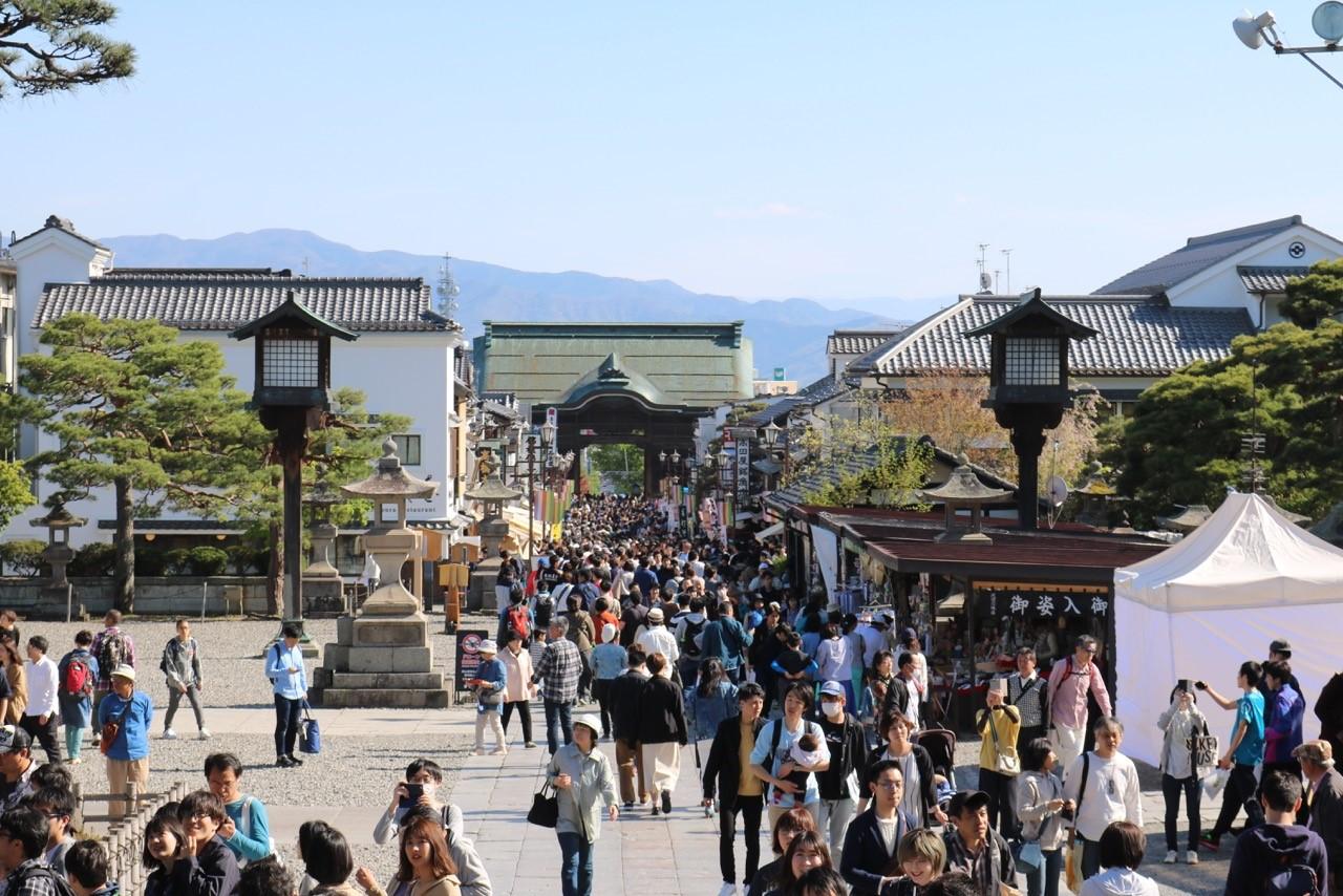 Nagano während der Golden Week.
