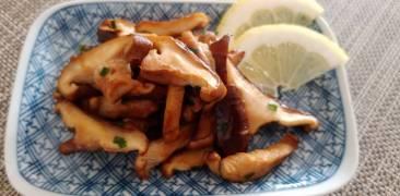Shiitake in Sojasaucen-Butter