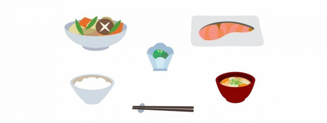 Illustrationen eines japanischen Menüs