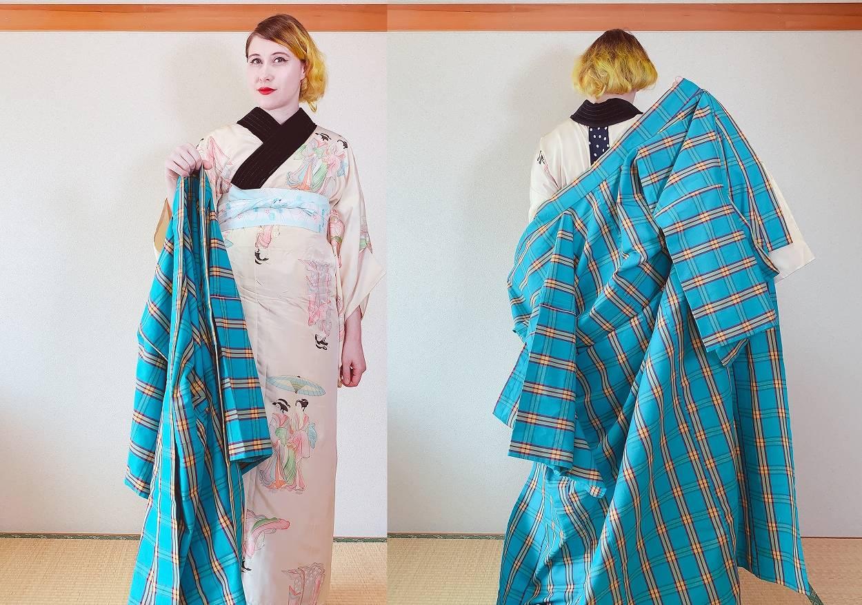 Schritt 1 beim Kimono-Anziehen