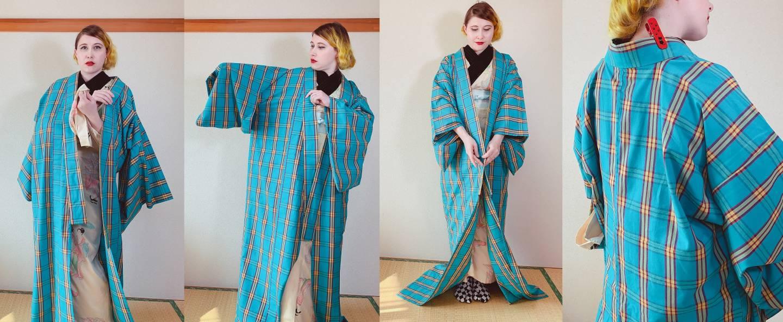 Schritt 2 beim Kimono-Anziehen