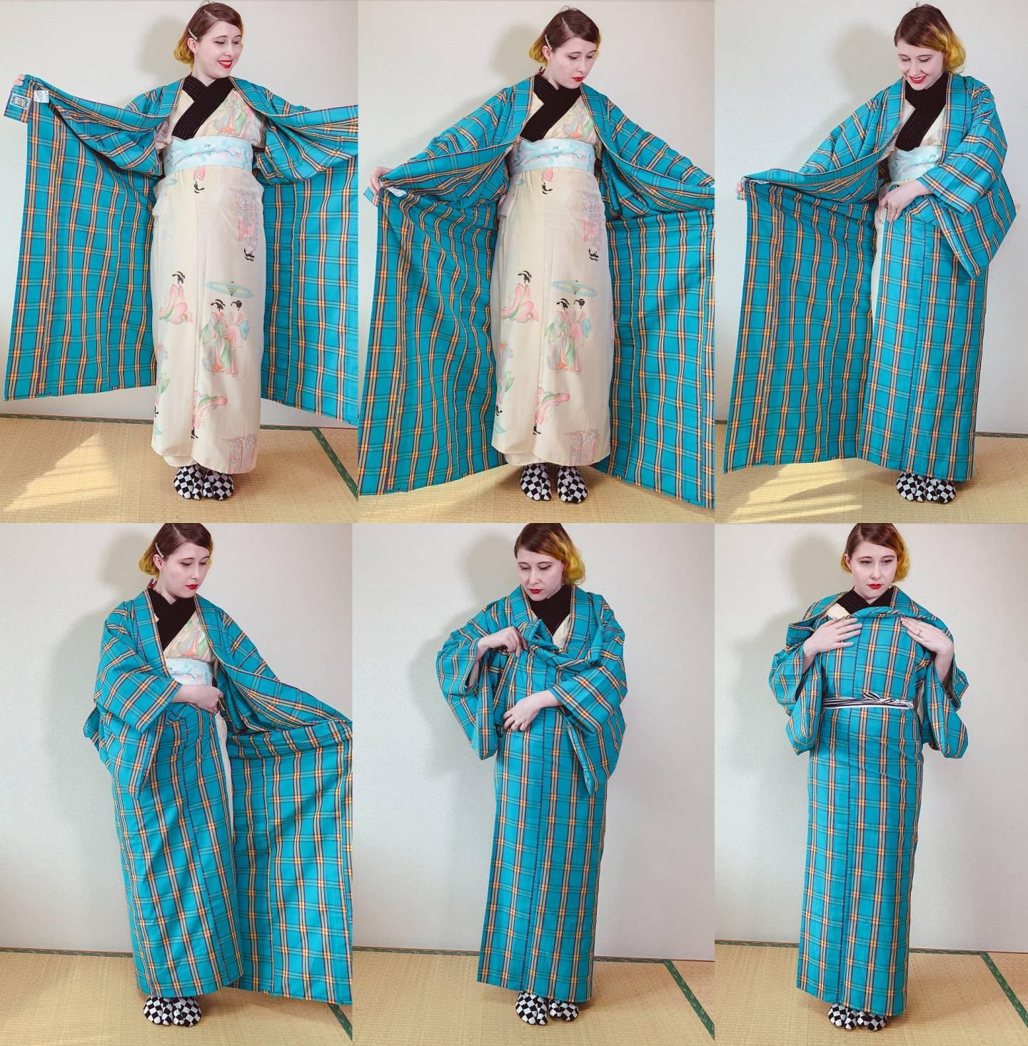 Schritt 3 beim Kimono-Anziehen