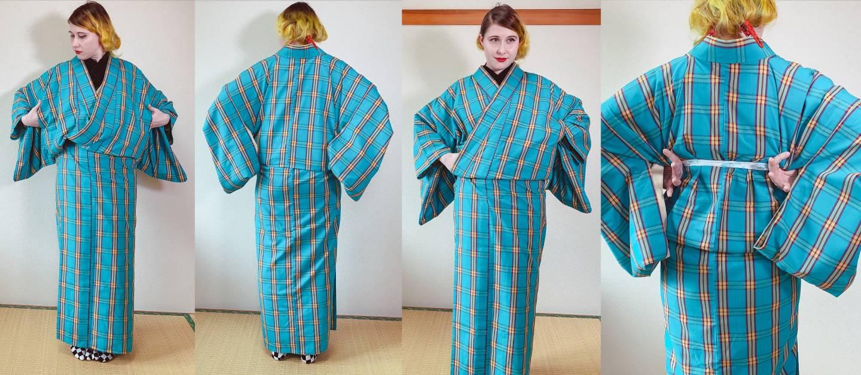 Schritt 4 beim Kimono-Anziehen