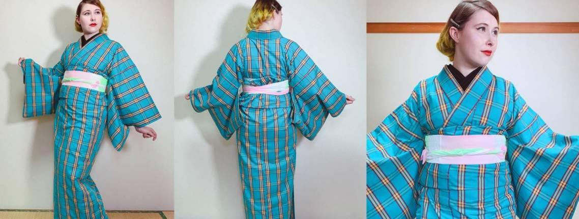 fertig angezogener Kimono
