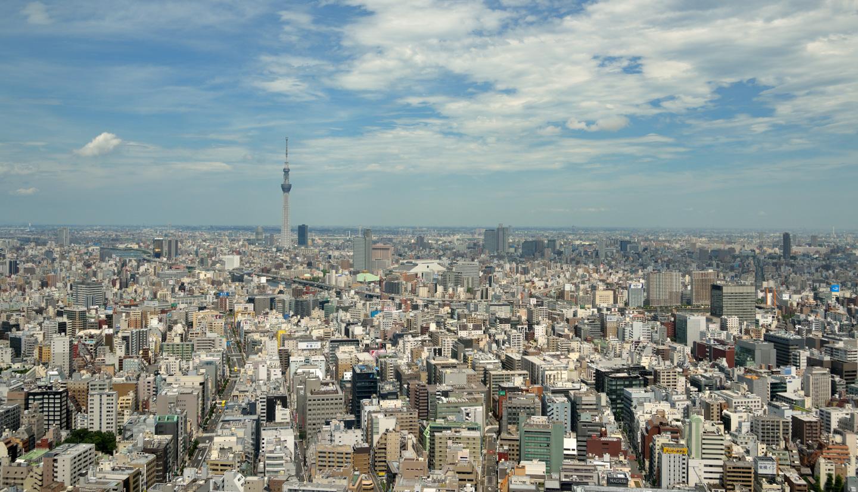 Aussicht über die Skyline von Tokyo.