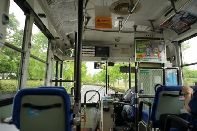 bus von innen in Japan