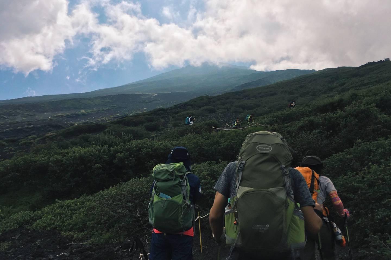Besteigung des Fuji