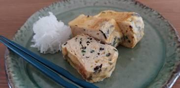 Hijiki Tamagoyaki mit Rettich