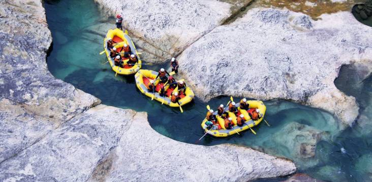 Wildwasserrafting in Japan