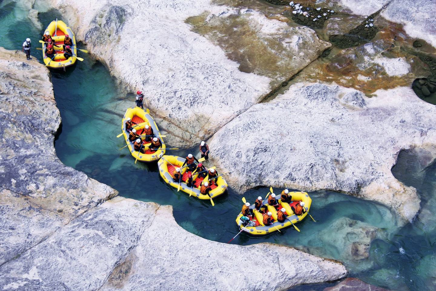 Wildwasser Rafting in Japan