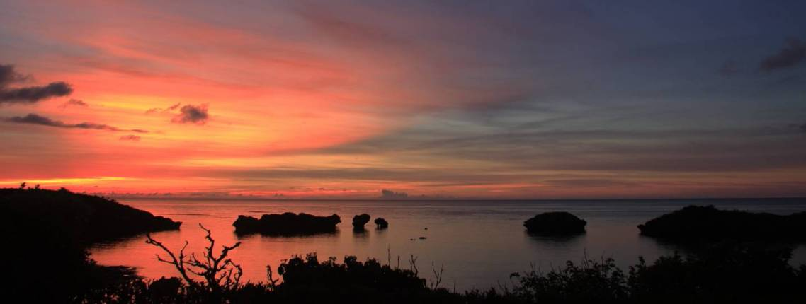 Küste Hoshizuna auf Iriomote-jima im Abendlicht