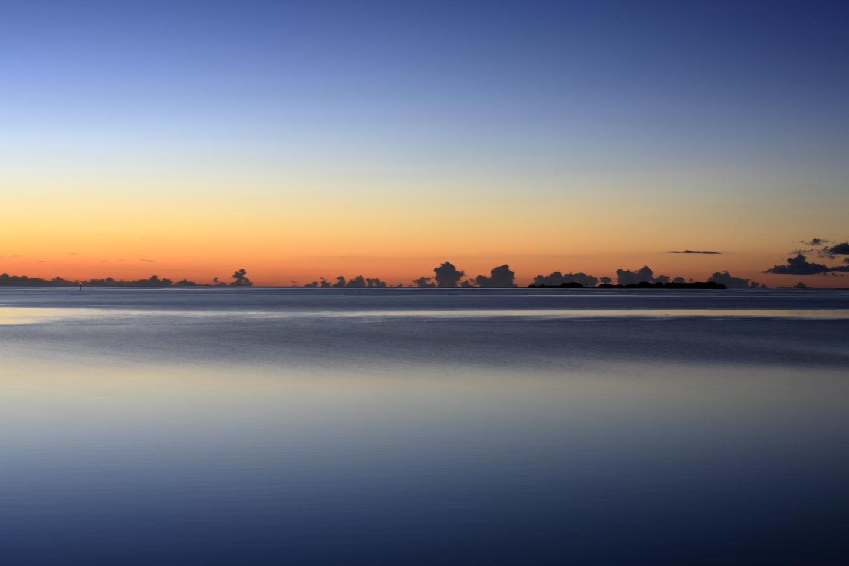 Abendliche Landschaft, von Funaura auf Iriomote-jima aus gesehen.