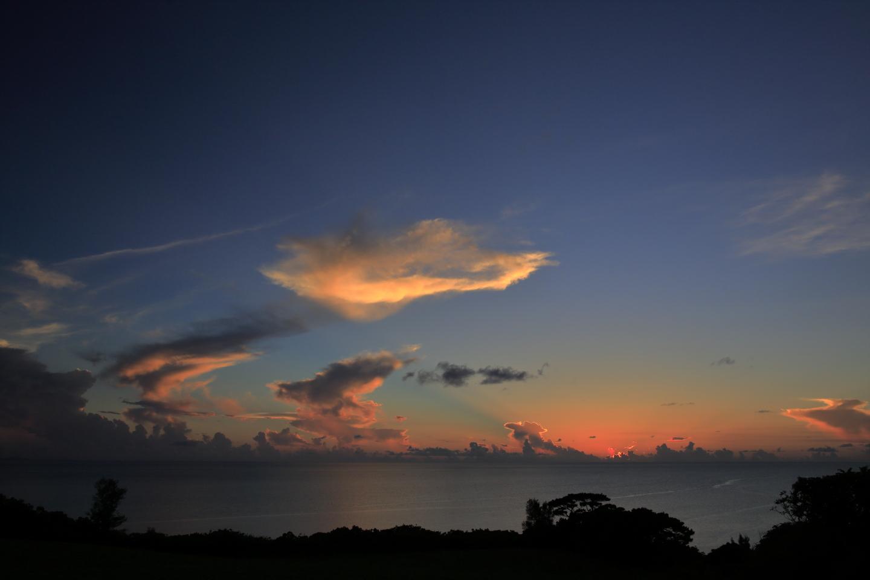 Abendlandschaft der Region Akashi im Norden von Ishigaki-jima.