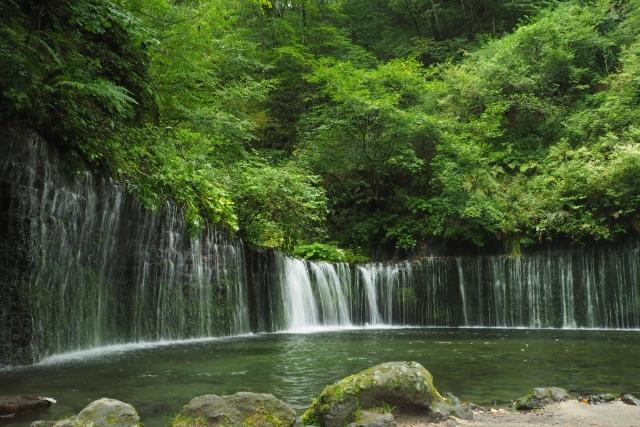 Der Shiraito Wasserfall in Karuizawa