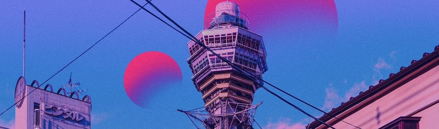 Ausschnitt einer bearbeiteten Fotografie vom Skytree der Künstlerin Surudenise