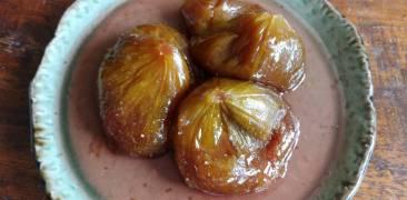 süß eingekochte Feigen