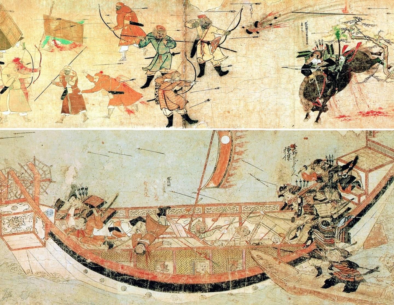 Illustration der Mongolen-Invasion in Japan