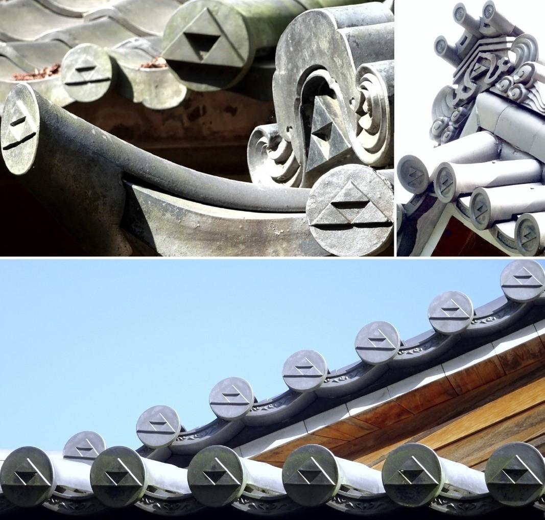 Fotocollage des Dachs des Enkakuji-Tempels