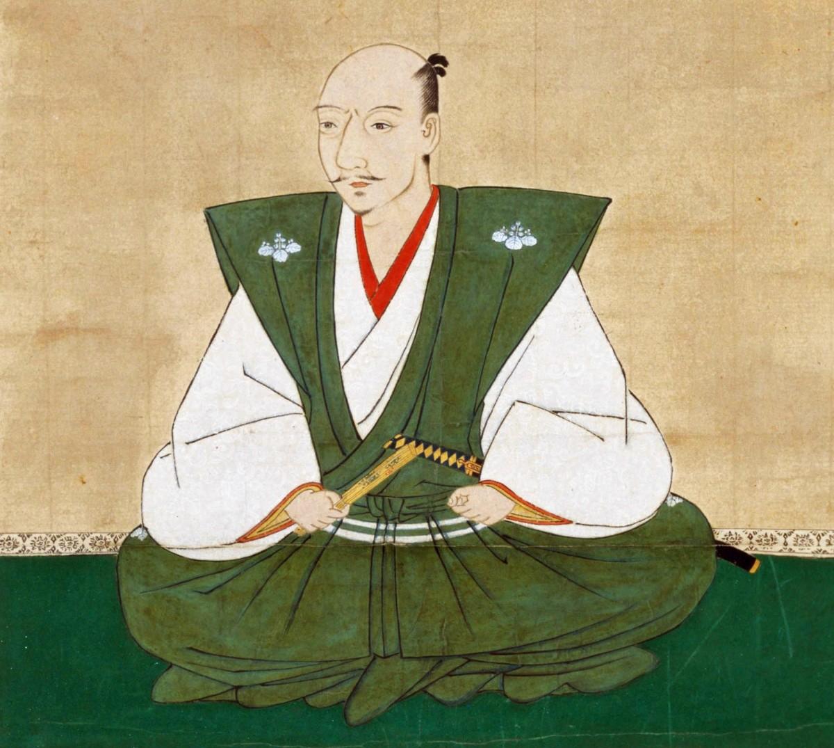 Holzschnitt von Oda Nobunaga