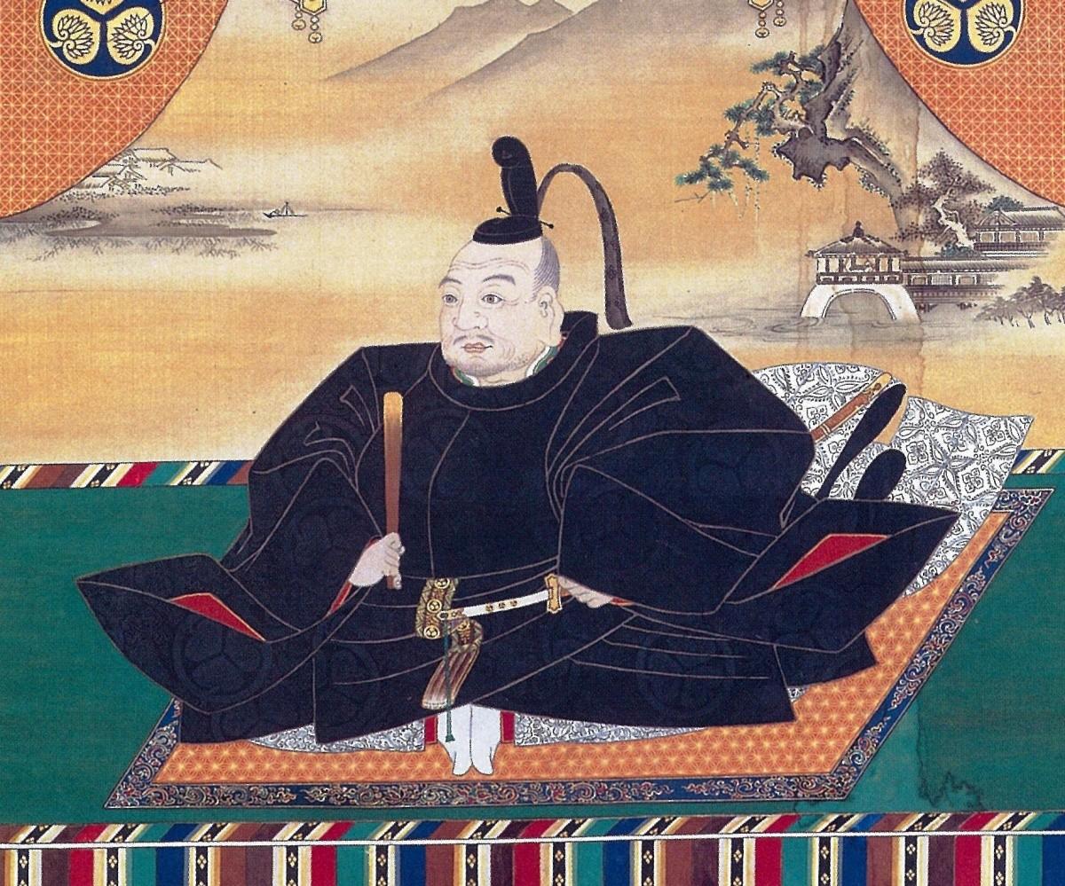 Holzschnitt von Tokugawa Ieyasu
