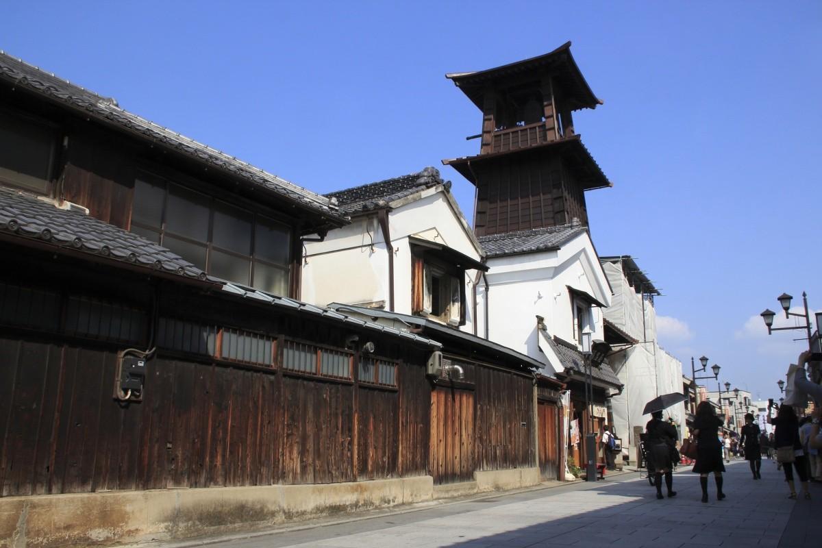 historische Straße in Kawagoe
