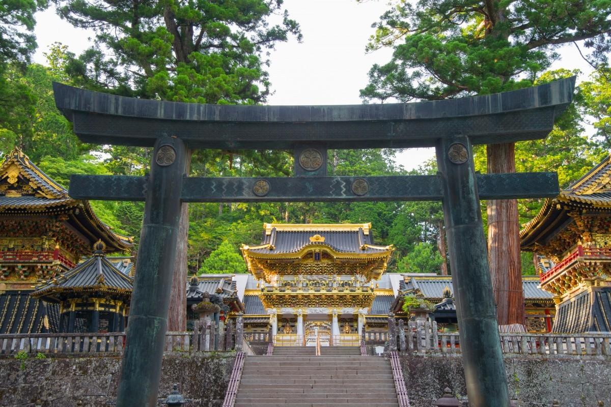 Blick auf einen Tempel in Nikko