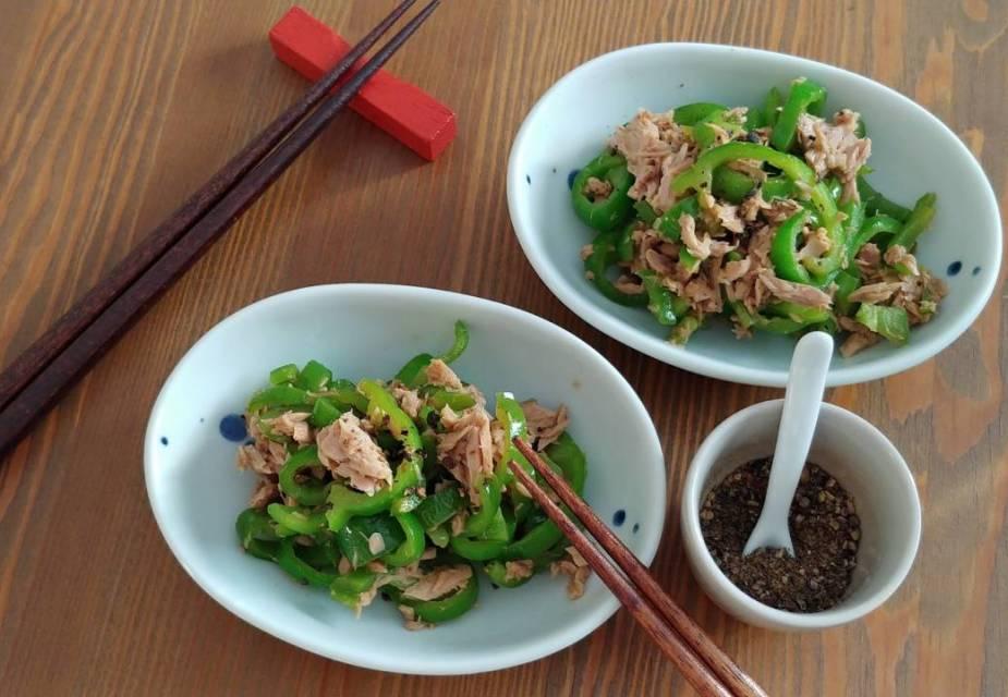 Fertig angerichtete Thunfisch-Paprika-Pfanne: 2 Portionen