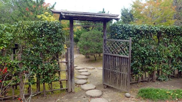Tor zu einem japanischen Teegarten