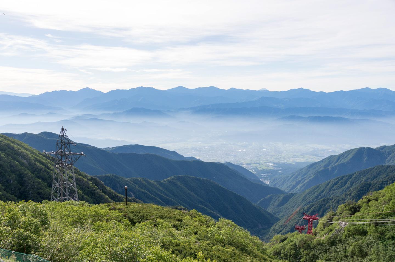 Panorama über die japanischen Alpen